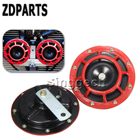 ZDPARTS 2X For Hyundai Solaris Suzuki Grand Vitara Swift Alfa Romeo Acura Renault Car Stickers Red Electric Blast Tone Horn Kit