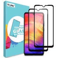 [2 Pack] TOPK verre trempé pour Xiao mi rouge mi Note 7 Pro mi A1 mi 8 Lite 8 SE mi 8 4X 6X Pocophon F1 couverture complète protecteur d'écran