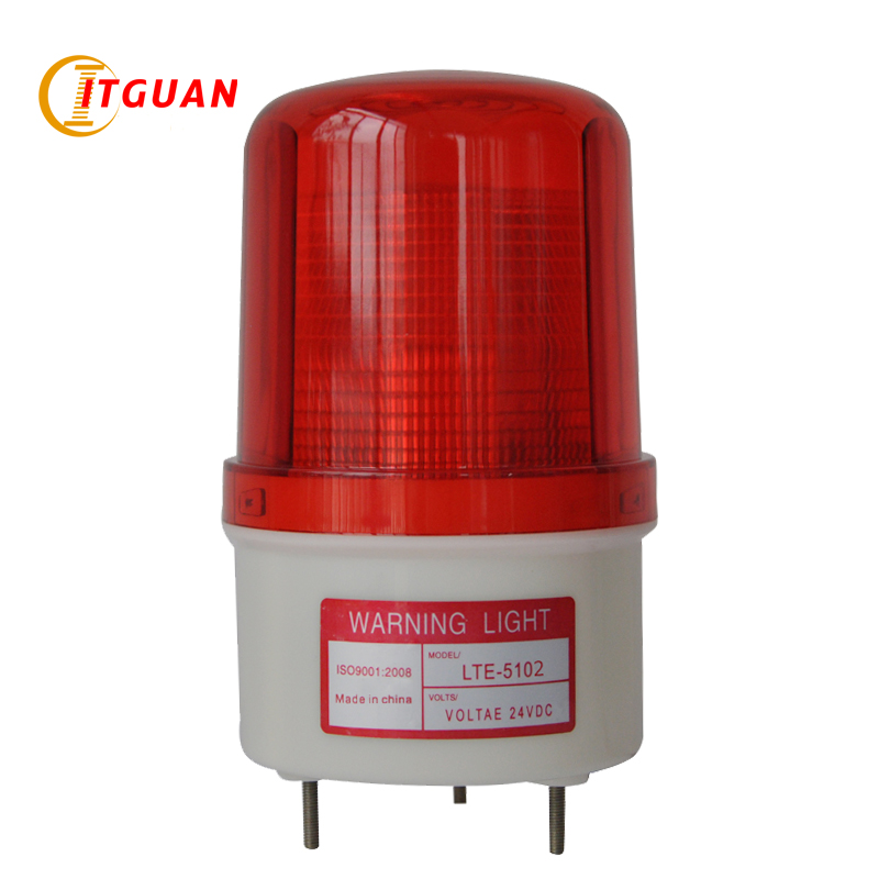 LTE-5102 Warning Led Light AC220V Flashing Lamp LED Industrial Emergency Strobe Light Beacon Warning Light DC12V 24V AC110V 220V ltd 5071 dc12v warning light emergency strobe light warning light