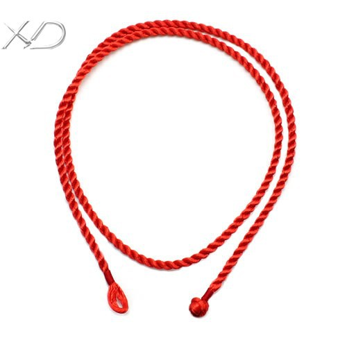 XD M Black And Red Waxed Cotton Braided Necklace Cord For - Diy braided necklace