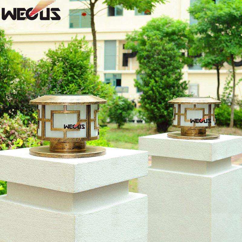 dwaterproof agua parede pilar lampada villa jardim 02