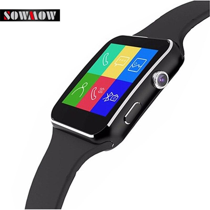 imágenes para MTK6260A SOWMOW E6 Reloj Inteligente Android 1.54 pulgadas LED Reloj de Pulsera Electrónica Inteligente Smartwatch Podómetro Con El Reloj de La Cámara