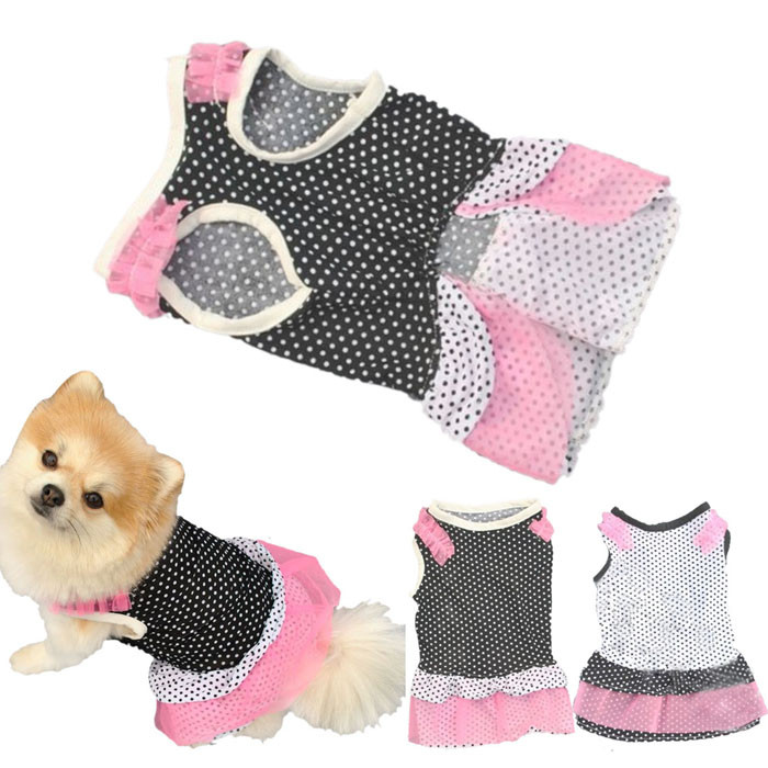 Initiatief Puppy Hond Prinses Jurk Hond Dot Pet Dog Kleren Kleding Hond Jaket Winter Warm Hondenkleding