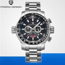 PAGANI DESIGN Sport Chronograph Watches Top Brand Luxury Full Steel Quartz Clock Waterproof Big Dial Watch Men Relogio Masculino