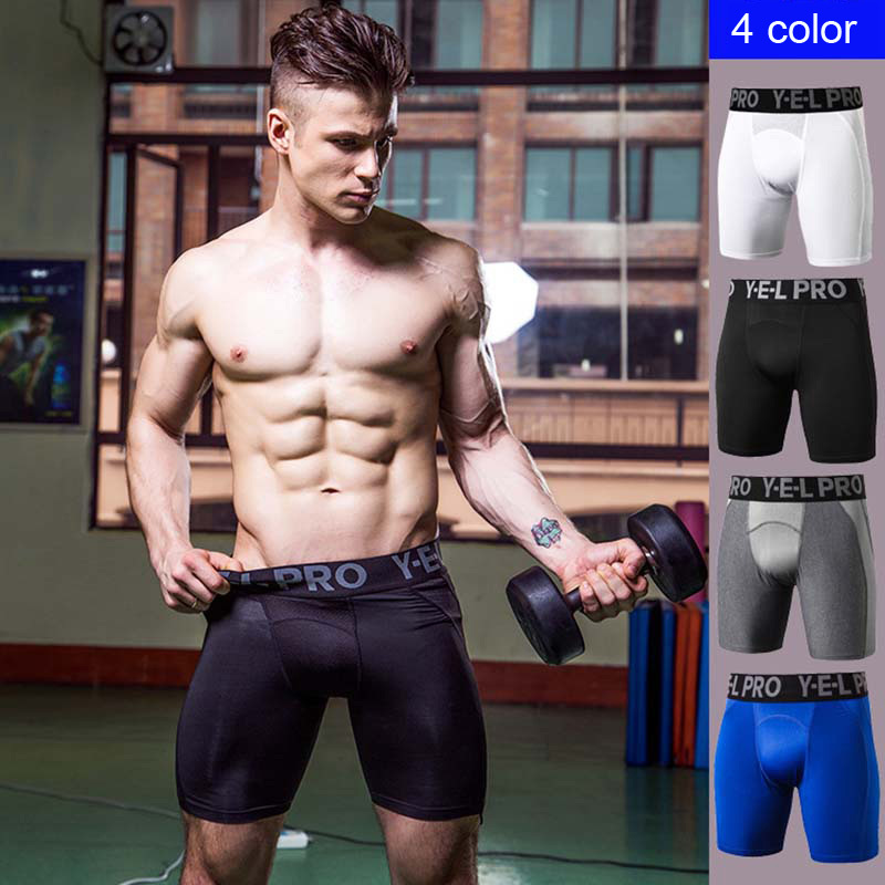 Men's PRO Sports Shorts Fitness Training Running Stretch Quick-drying Mesh Breathable Tight Shorts