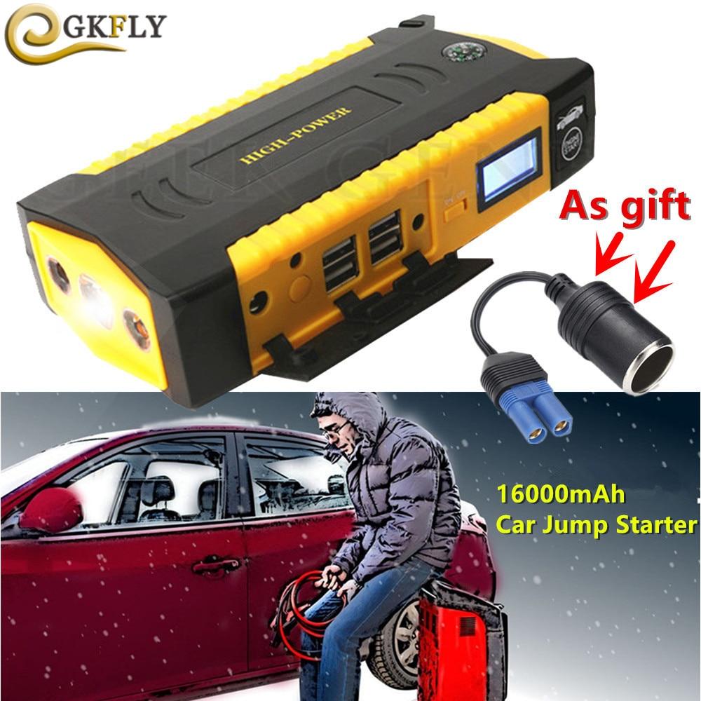 Tragbare 16000 mah Ausgangs Gerät Notfall Auto Jumper 600A 12 v Auto Ladegerät Für Auto Batterie Booster Mini Auto Starter led-leuchten