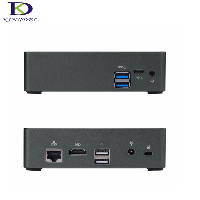 New Style With Mute Fan 7th Gen Core I5 7200U Mini PC Computer NGFF SSD TV Box PC 4K HD Display HTPC 300M Wifi Windows10 Nettop