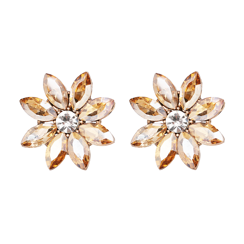 Нови блестящи цветни обеци от горни - Модни бижута - Снимка 2