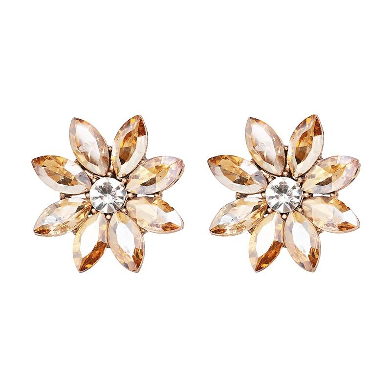 Nye skinnende Rhinestone farverige Stud øreringe til kvinder - Mode smykker - Foto 2