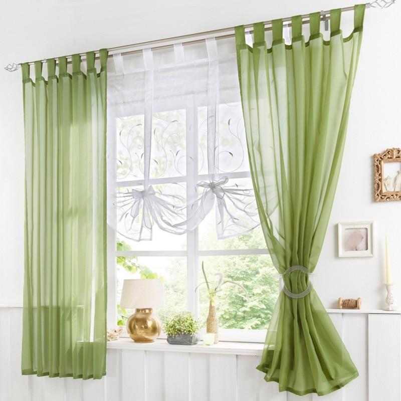 Tie Up Kitchen Curtains: Window Roman Shade Embroidery Tie Up Curtain Kitchen