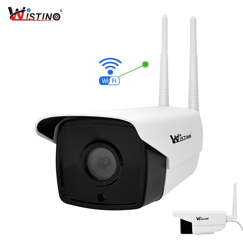 Wistino CCTV WiFi IP Camera 720P Outdoor Security Camera Bullet Waterproof Surveillance Camera Wireless Network Night Vision 1MP wistino cctv camera housing outdoor use abs plastic bullet casing for ip camera hot sale cover case surveillance