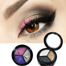 Makeup Eyeshadow Smoky cosmetic set 3 colors professional natural matte Eye Shadow Palette Naked Nude Glitter