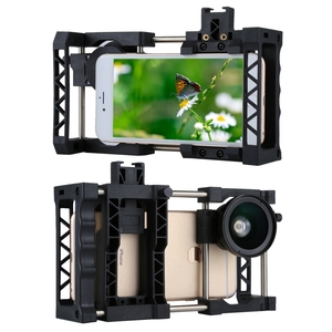 Image 2 - Handheld Phone Stabilizer Universal Portable Adjustable Mobile Phone Cage With Kit For iPhone,Samsung and Other Smartphones