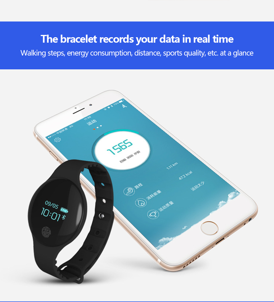 ALANGDUO H8 Smart Bracelet Children Style Touch Control Band ip65 Waterproof Sport Activity Tracker Fitness Wristbands Watches (7)