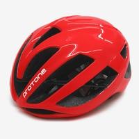 Ultralight Red Protone Bicycle Helmet Aero Capacete Road Mtb Mountain XC Trail Bike Cycling Helmet 52