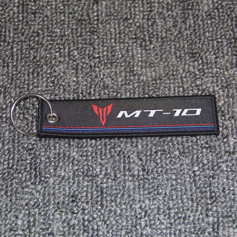 Motorcycle Key Chain Woven Key Ring Tag Label Chain For Yamaha MT 09 MT 07 MT 03 MT 01 MT 25 MT 125 MT 10 in Covers Ornamental Mouldings from Automobiles Motorcycles