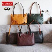 100% Real L eather Genuine Leather OL Style Women Handbag Tote Bag Ladies Shoulder Bags Wholesale price 5 colors