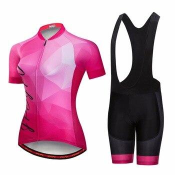 Camiseta de ciclismo rojo, conjuntos para mujer, ropa para bicicleta MTB, camisetas transpirables Anti-UV, ropa para bicicleta, Pro team mountain road, top bottom summer