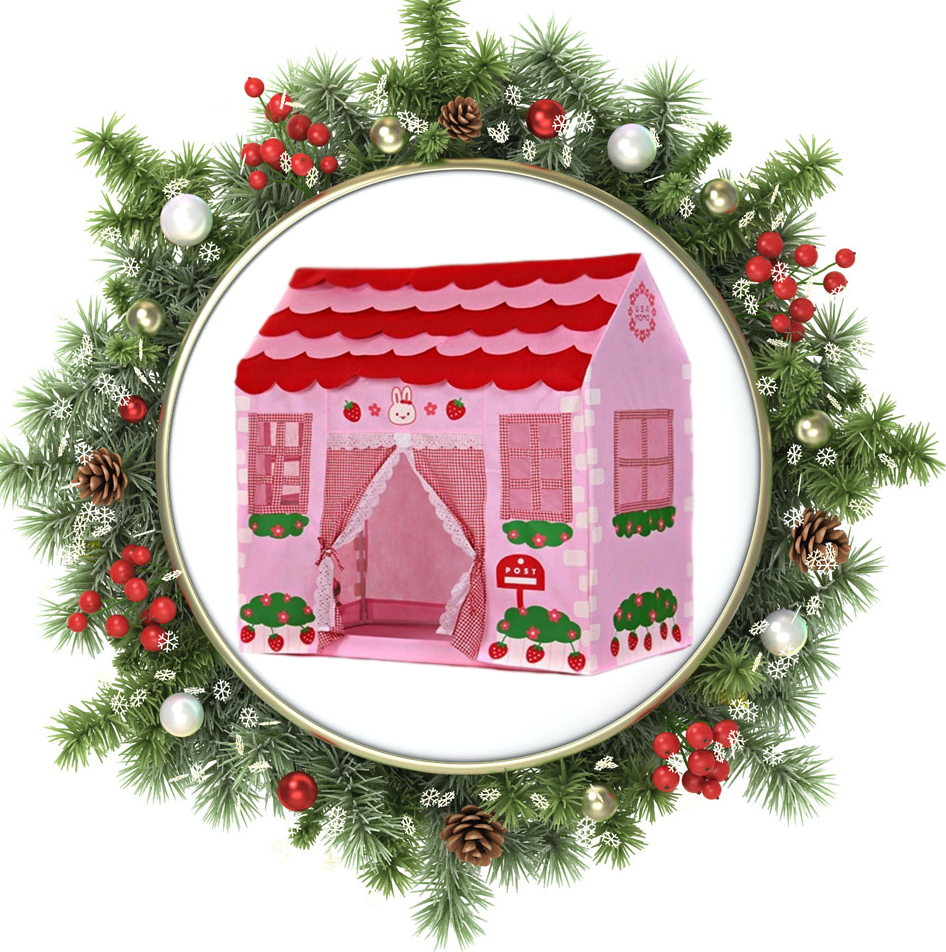 Play house pink play tent Girl City House Kids Secret Garden childrens tents for girls Christmas Gift