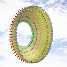 10 м большой воздушный змей в форме кольца нейлон ripstop Радуга воздушные змеи для взрослых на открытом воздухе Забавные игрушки Кит Забавный завод volant sport pipas