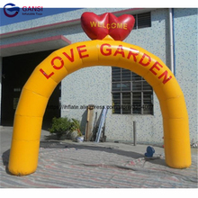 цена на Giant event inflatable wedding arch with helium balloons customized color cheap inflatable arch for sale inflatable arch tent
