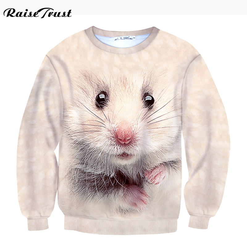 Spring Autumn Women/Men 3d hoodies Printing Sweatshirt harajuku Animal Cute Hamster Casual Hooded Pullover o-neck Long sleeves