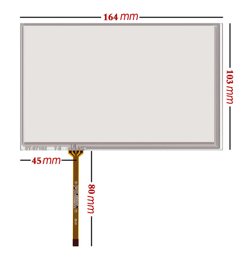 New For 7 Inch 164*103mm 4-Wires Glass Monitor <font><b>AT070TN83</b></font> V.1 <font><b>Touch</b></font> <font><b>Screen</b></font> Digitizer <font><b>Panel</b></font> Replacement image