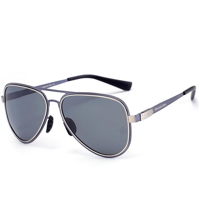 Polarized Sunglasses With Mercedes Logo
