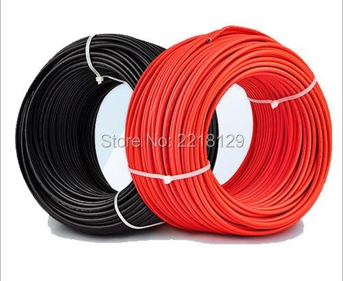 Boguang 2*20 m/lot (สีดำ 20 m + สายสีแดง 20 m) 2.5mm2 Solar Connector สาย 12AWG สีดำหรือสีแดง TUV อนุมัติ Power PV