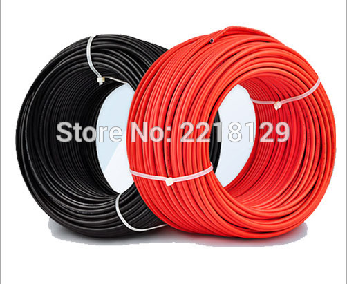Boguang 2*20m/lot (Black Cable 20m+Red Cable 20m) 2.5mm2 Solar Connector Cable 12AWG Black Or Red TUV Approval Power PV Cable