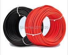 Boguang cabo 20m + cabo vermelho 20m, 2*20 m/lote (cabo preto 20m + 20m) cabo conector solar 12awg 2.5mm2, cabo pv de aprovação tuv preto ou vermelho