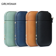 GIRLWOMAM Lichee pattern for IQOS 2 4 Plus Case Protective Holder Cover Wallet Case font b