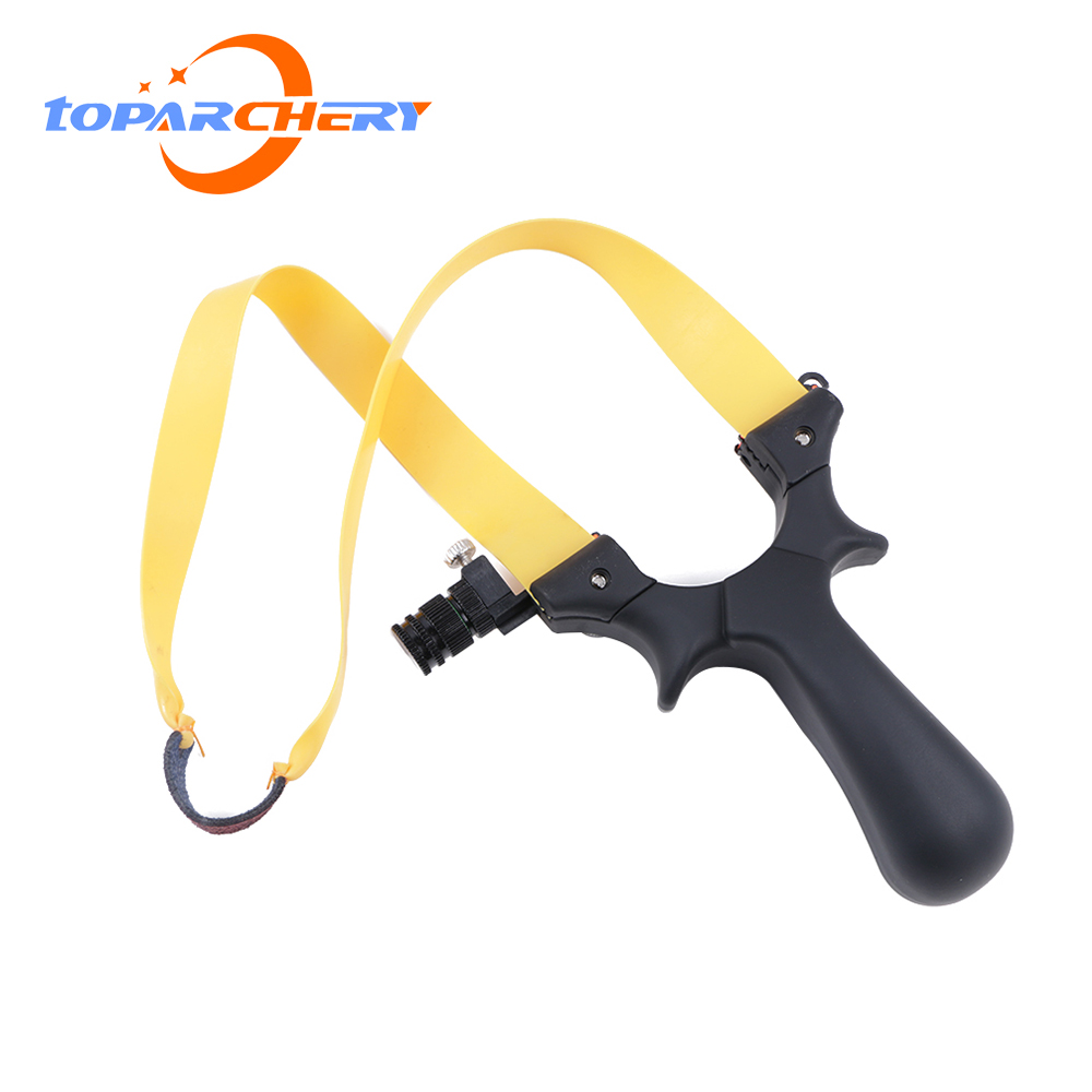 1pcs Powerful Shooting Slingshot Portable Catapult Slingshots Outdoor Hunting Gaming Accessories Gift For Boys
