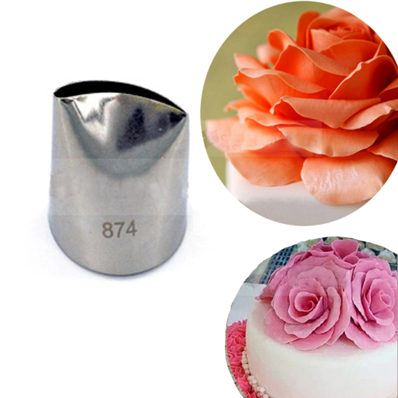 #874 Large Flower Petal Cream Icing Piping Nozzles Fondant