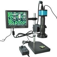 Полный комплект 14MP промышленный микроскоп камера HDMI USB выходы с 180X c креплением объектив 60 светодиодное освещение для микроскопа с 8 HD ЖК экр