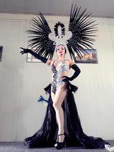 Accessori Di Moda squisita piume del copricapo Delicato di ballo di ballo latino Samba mostra accessori Samba abbigliamento