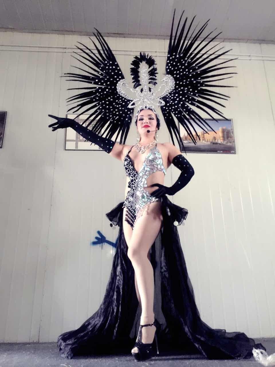 Latin dance Samba accessories Fashion exquisite headdress