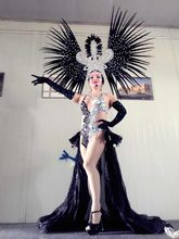Latin dance Samba accessories Fashion exquisite headdress feathers Delicate dance shows accessories Samba clothing