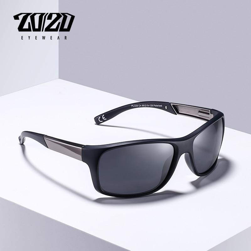 20/20 Marke Klassische Polarisierte Sonnenbrille Männer Fahren Gläser Beschichtung Schwarz Angeln Fahren Brillen Männlichen Sonnenbrille Pl328
