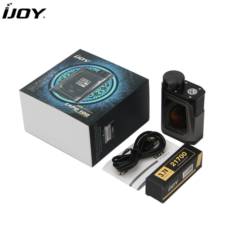 100 Original IJOY CAPO 100 OLED Screen Box Mod Powered by Single 21700 Battery Support Captain