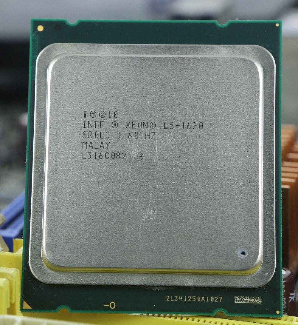 Оригинальный Intel Xeon E5 1620 3.6 ГГц 4 core 10 МБ Кэш socket 2011 Процессор процессор SR0LC E5-1620
