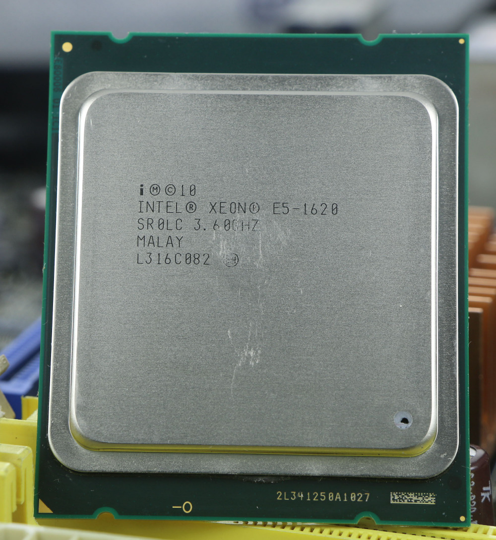 original Intel Xeon E5 1620 3.6GHz 4 Core 10Mb Cache Socket 2011 CPU Processor SR0LC e5-1620 intel xeon x5482 socket lga775 cpu 3 2ghz 12mb l2 cache quad core fsb 1333 processor without adapters