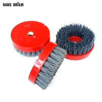 4 M14 Abrasive Wire Grinding Brush Stone Marblearchaized Granite Polishing Brush