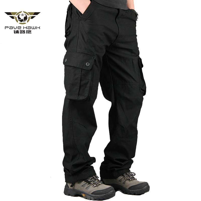 Men's Cargo Pants Male Combat Military Tactical Pant Casual Men Pant Baggy Regular Cotton Long Trousers With Multi Pockets 29-44