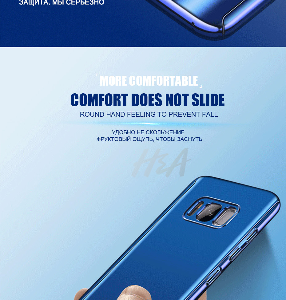 360 Degree Protection Case For Samsung S8 S7 Note 8 Plating Mirror Case For  Samsung Galaxy S7 Edge S8 S8 Plus Cover