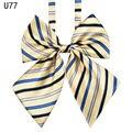 Venda quente Gravata borboleta Para Mulheres Menina Estudante Da High School Cosplay Uniforme Terno Formal Acessórios Gravata Borboleta Nó Listrado Azul