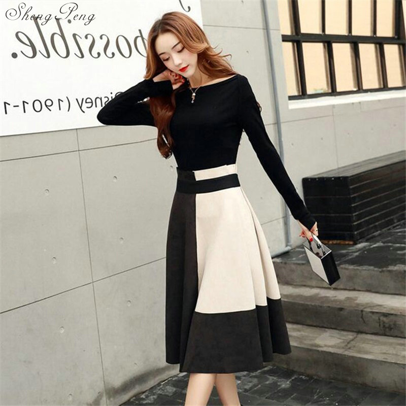 Autumn Women's Suits Two Piece Set 2018 Clothing Crop Top And Skirt Set Sweater Dress Knitted Skirt Sets For Women V687