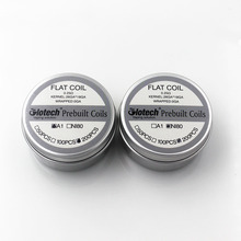 Glotech 200pcs/box Flat Coil Premade Coils A1 Ni80 Heating wire Prebuilt Coil for DIY RDA RBA RTA DIY Vaporizer Coils Building e xy flat coil wire 120mm heating wire electronic cigarette 10pcs in a tube for vapor vape rda rta premade resistance wire