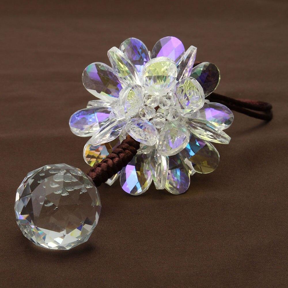 Vehemo зеркало заднего вида многоцветное украшение для салона автомобиля хрустальный кулон счастливый повесить модный красивый автомобиль Стайлинг цветок