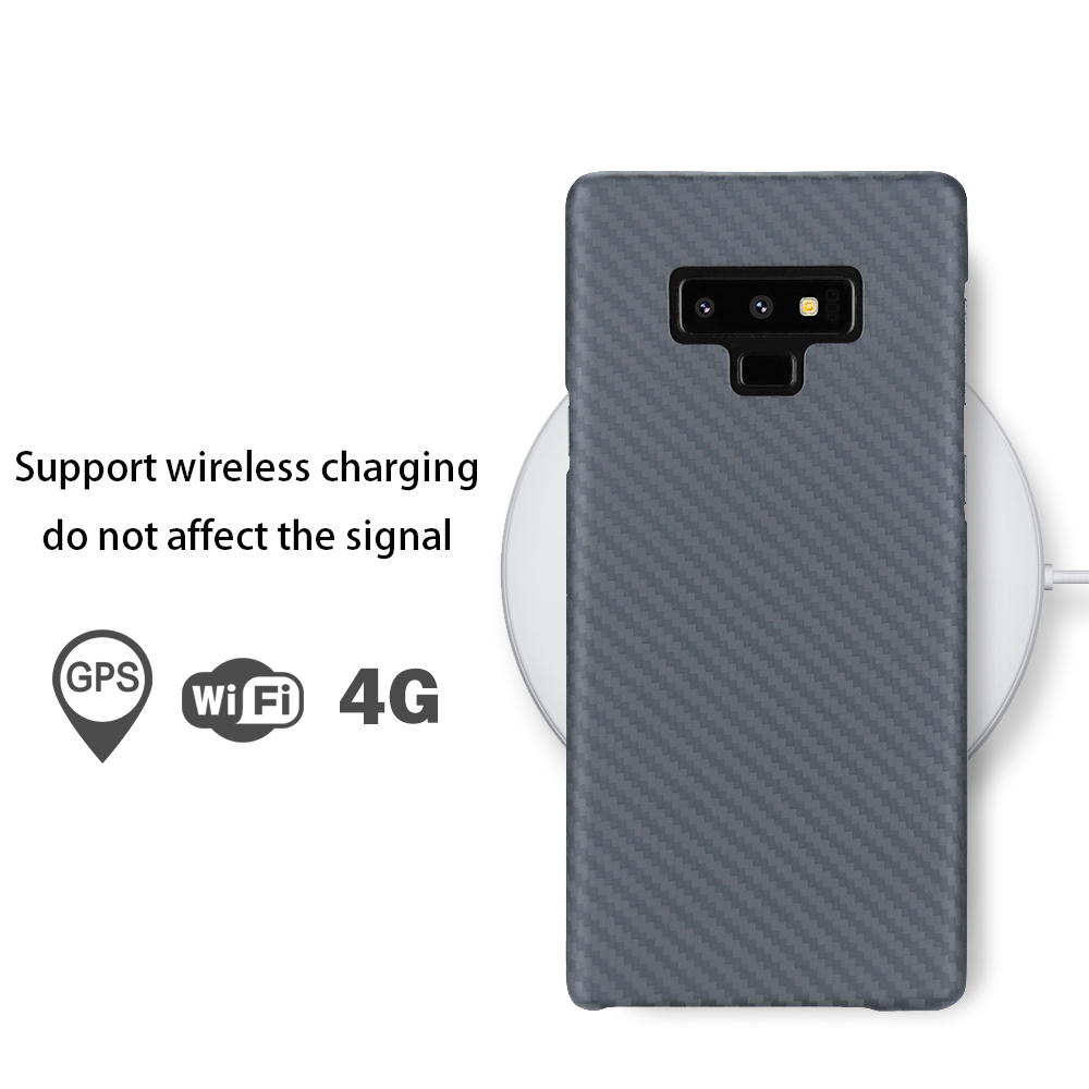 For Samsung Galaxy note 8 9 Case Material Aramid fiber Back Cover Carbon Fiber Pattern for